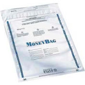 "PM Company SecurIT® Tamper-Evident Plastic Money Bags 58001 - 9""W x 12""H, White, 100/Pack"