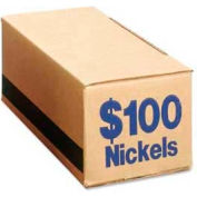 PM® SecurIT® Coin Box, For $100 Nickels, Blue, 50/Carton