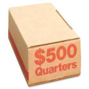 PM Company SecurIT® Coin Box 61025 For $500 Quarters, Orange, 50/Carton