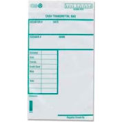 "Quality Park® Cash Transmittal Bags, 6"" x 9"", White, 100/Pack"