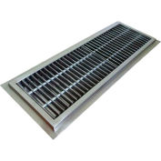 """IMC Floor Trough CFT-12120-SG 12""""W x 120""""L x 4""""D with Stainless Steel Grating & 1 Center Drain"""