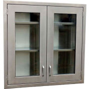 """IMC OC48-48HG Stainless Steel Wall Cabinet 48"""" x 48"""" x 13""""D"""