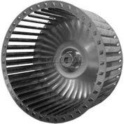 "Single Inlet Blower Wheel, 9-15/16"" Dia., CCW, 1750 RPM, 5/8"" Bore, 6""W, Galvanized"