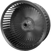 "Single Inlet Blower Wheel, 8"" Dia., CW, 1650 RPM, 1/2"" Bore, 3-3/16""W, Galvanized"