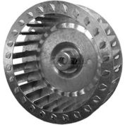 "Single Inlet Blower Wheel, 5-1/4"" Dia., CCW, 3450 RPM, 1/2"" Bore, 2-1/2""W, Galvanized"