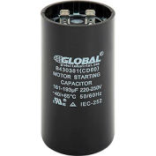 Global Industrial™ B430381, 161-193 MFD, 220/250V, Start Capacitor, Round