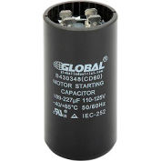 Global Industrial™ B430348, 189-227 +/- 5% MFD, 110/125V, Start Capacitor, Round