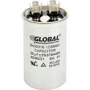 Global Industrial™ B430316, 20 +/- 5% MFD, 370/440V, Run Capacitor, Round