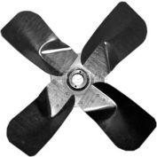 """Heavy Duty Four Wing Fan Blade, Galvanized Steel Props, 28"""" Dia.,CW, 27° Pitch"""