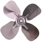 "Small Fixed Hub Fan Blade, 5-1/2"" Dia., 27° Pitch, CCW, 3/16"" Bore, 7/8"" Blade Depth, 4 Blade"