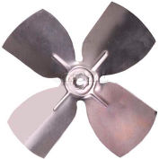 "Small Fixed Hub Fan Blade, 5-1/2"" Dia., 27° Pitch, CW, 3/16"" Bore, 7/8"" Blade Depth, 4 Blade"