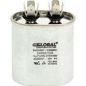 Global Industrial™ B430397, 5 +/- 5% MFD, 370/440V, Run Capacitor, Oval
