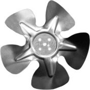 "Small Hubless Fan Blade, 8"" Dia., 24° Pitch, CW, 1"" Blade Depth, 5 Blade"
