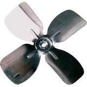 "Small Fixed Hub Fan Blade, 6"" Dia., 27° Pitch, CW, 1/4"" Bore, 7/8"" Blade Depth, 4 Blade"