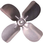 "Small Fixed Hub Fan Blade, 6-1/2"" Dia., 27° Pitch, CW, 1/4"" Bore, 13/16"" Blade Depth, 4 Blade"