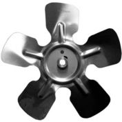 "Small Fixed Hub Fan Blade, 8"" Dia., 24° Pitch, CCW, 1/4"" Bore, 1-1/8"" Blade Depth, 5 Blade"