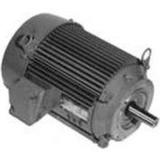 US Motors Unimount® TEFC, 3 HP, 3-Phase, 1180 RPM Motor, U3E3DCR