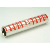 Penn-Union BBCU2, Copper Compress., Crimp Splice, Long Barrel Tin Plated, 2 AWG, Brown - Pkg Qty 25
