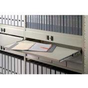 "Clipper ® Sliding Reference Shelf, 42""W X 12""D, Extends 12"", Gray"