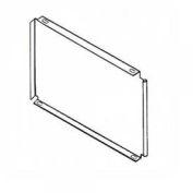 "Clipper ® Full Height Shelf Divider, 18""D X 16""H, Gray"