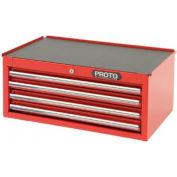 "Proto® 440SS Intermediate Chest - 4 Drawer, Red, 27""L X 10""H X 18""D"