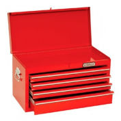 """Proto® 440SS 27"""" Top Chest with Drop Front - 4 Drawer, Red, 27""""L X 15""""H X 12""""D"""