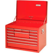 """Proto® 440SS 27"""" Top Chest with Drop Front - 10 Drawer, Red, 27""""L X 19""""H X 18""""D"""