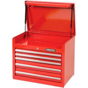 """Proto® 440SS 27"""" Top Chest - 5 Drawer, Red, 27""""L X 23""""H X 18""""D"""