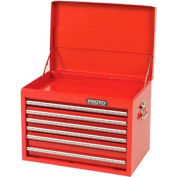 """Proto® 440SS 27"""" Top Chest - 6 Drawer, Red, 27""""L X 19""""H X 18""""D"""