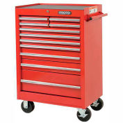 "Proto® 440SS 27"" Roller Cabinet - 11 Drawer, Red, 27""L X 42""H X 18""D"