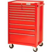 "Proto J442742-12RD 440SS 27"" Roller Cabinet - 12 Drawer, Red, 27""L X 42""H X 18""D"