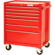 """Proto® 440SS 27"""" Roller Cabinet - 7 Drawer, Red, 27""""L X 42""""H X 18""""D"""