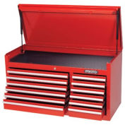 "Proto J444119-12RD 440SS 41"" Top Chest - 12 Drawer, Red, 41""L X 19""H X 18""D"