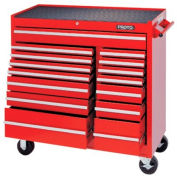 "Proto J444142-15RD 440SS 41"" Workstation - 15 Drawer, Red, 41""L X 42""H X 18""D"