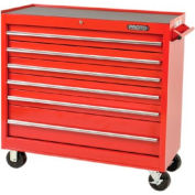 "Proto J444142-6RD 440SS 41"" Workstation - 6 Drawer, Red, 41""L X 42""H X 18""D"