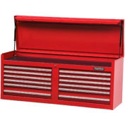 "Proto J445419-12RD 440SS 54"" Top Chest - 12 Drawer, Red, 54""L X 23""H X 18""D"