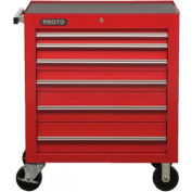 "Proto® 450HS 34"" Roller Cabinet - 6 Drawer, Red, 34""L X 41""H X 25""D"