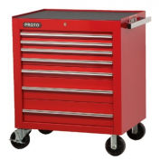 "Proto® 450HS 34"" Roller Cabinet - 8 Drawer, Red, 34""L X 41""H X 25""D"