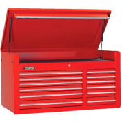 "Proto® 450HS 50"" Top Chest - 12 Drawer, Red, 50""L X 27""H X 25""D"