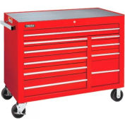 "Proto J455041-10RD 450HS 50"" Workstation - 10 Drawer, Red, 50""L X 41""H X 25""D"