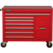 "Proto® 450HS 50"" Workstation - 7 Drawer & 1 Shelf, Red, 50""L X 41""H X 25""D"