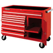 "Proto® 450HS 50"" Workstation - 8 Drawer & 1 Shelf, Red, 50""L X 41""H X 25""D"