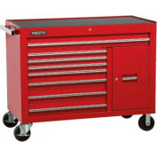"Proto® 450HS 50"" Workstation - 8 Drawer & 2 Shelves, Red, 50""L X 41""H X 25""D"