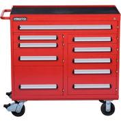 "Proto® 460 Series 45"" Workstation - 10 Drawer, Red, 45""L X 42-1/2""H X 21-3/8""D"