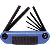 "Proto® 7 Piece Metric Long Folding Hex Key Set, 3"" Long"