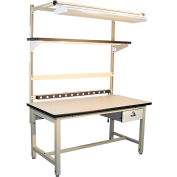 """Global Industrial™ Bench-In-A-Box Standard Workbench, ESD Laminate Top, 60""""Wx30""""D, Beige"""