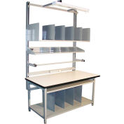 """Global Industrial™ Bench-In-A-Box Packing Workbench, ESD T-Mold Edge, 72""""W x 30""""D"""