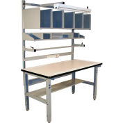 Pro-Line IWBPB7230C Packing Table ESD T-Mold Edge - 72 x 30