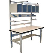 Pro-Line IWBPB7230PL Packing Table Plastic Laminate T-Mold Edge - 72 x 30