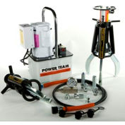 3 Jaw 50 Ton Hydraulic Puller Set w/ Electric Pump